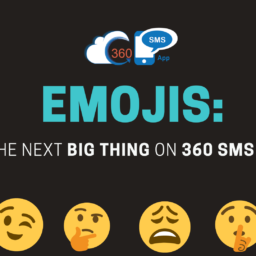 emojis functionality in 360 SMS App