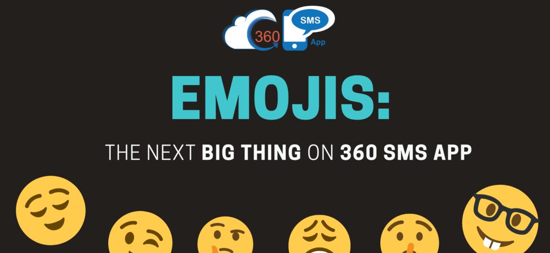 emojis functionality in 360 SMS App