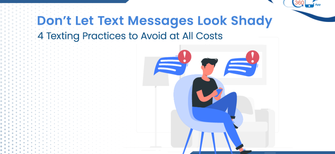 Text practices to avoid